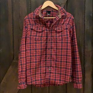 The North Face Plaid Button down top